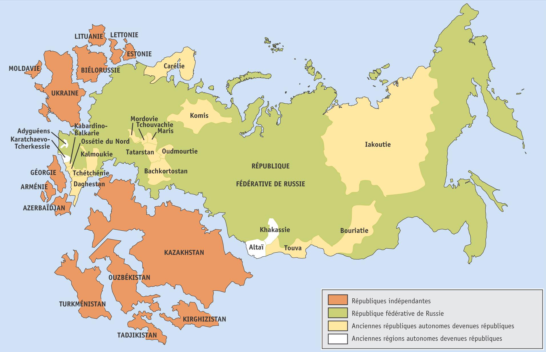 Carte Urss.Russie 1991 Carte