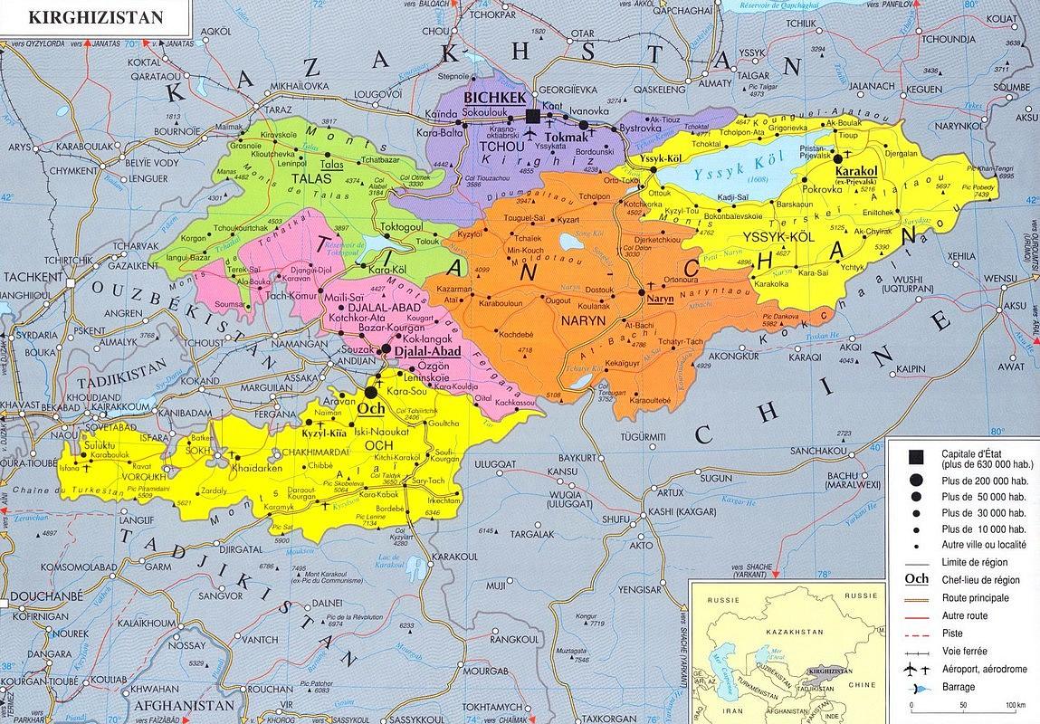 asie-centrale-carte-geographique - Photo