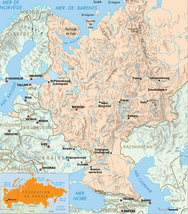 Carte Russie Europe.Geographie De La Russie Et Des Espaces Postsovietiques