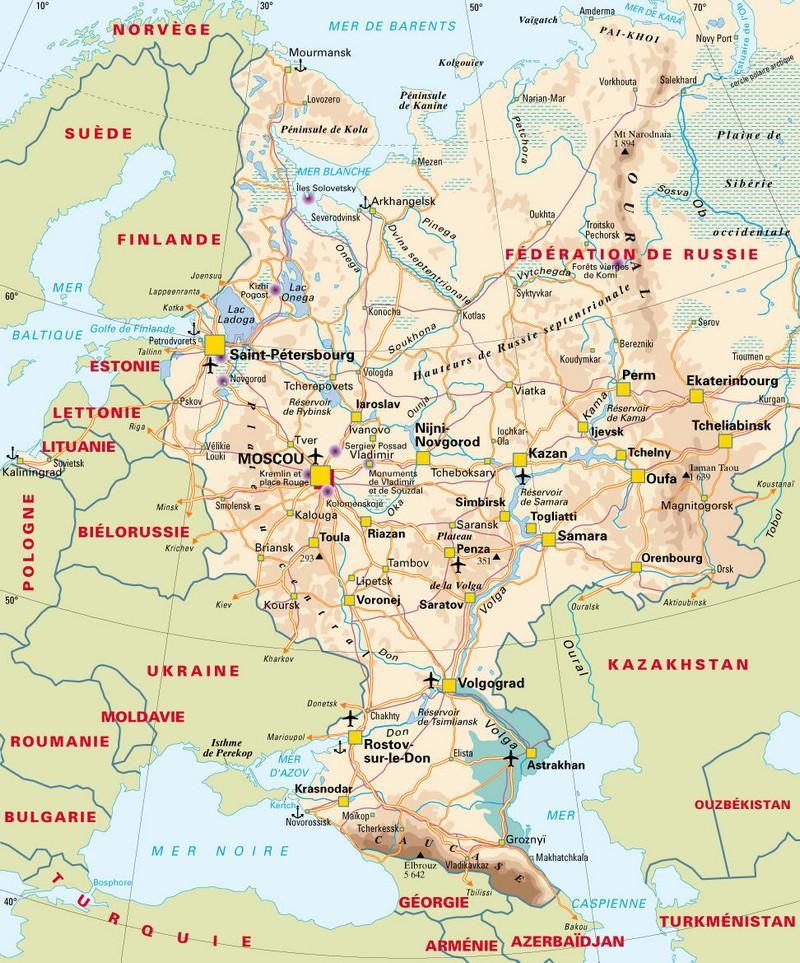 carte europe latitude